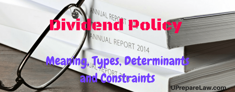 Dividend Policy Notes pdf